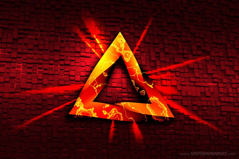 Metaphysical Triangle Red - Stephan Renault